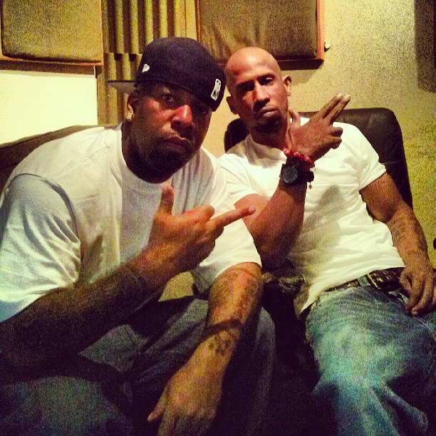 Young Noble and Hussein Fatal studio session 2013